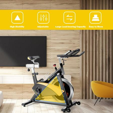 Goplus Magnetic Exercise Bike Stationary Belt Drive Cycling Bike - image 1 of 10