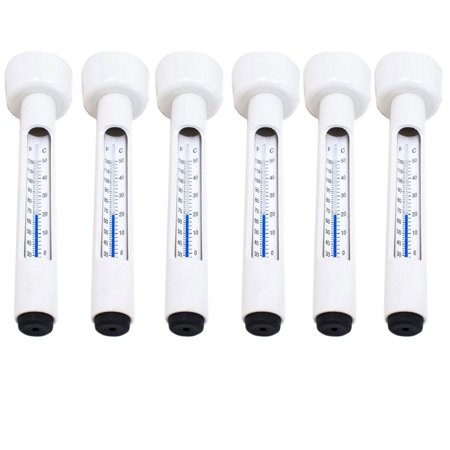 Image of Pentair Rainbow Swimming Pool Spa Hot Tub Floating ABS Thermometer (6 Pack)