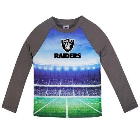 Infant Gerber Gray Oakland Raiders Long Sleeve Stadium T-Shirt (Oakland Raiders Shirt)