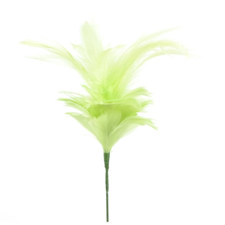 Goose Costumes (Pack of 4 Spearmint Goose Satinette and Hackle Flower Stems)