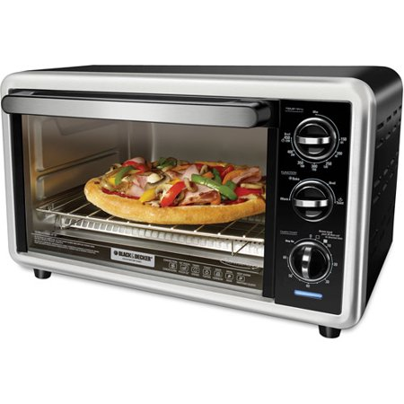 BLACK+DECKER 6-Slice Convection Toaster Oven, Silver, TO1216B