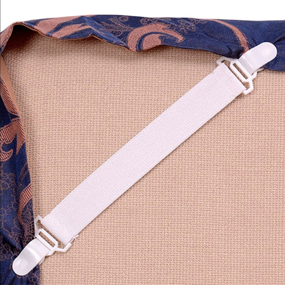 4 Bed Sheet Mattress Cover Blankets Grippers Clip Holder Fasteners Set