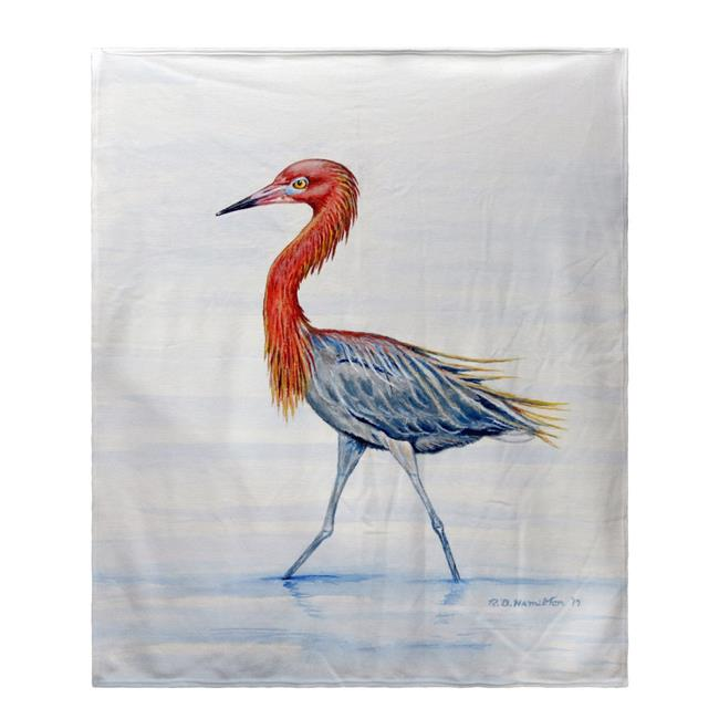 Betsy Drake BK820 Reddish Egret Fleece Throw