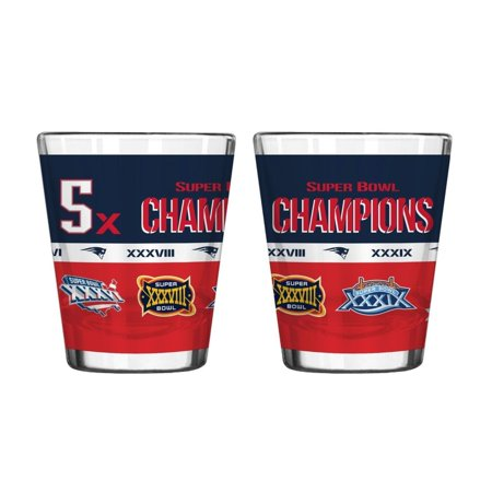 New England Patriots 5 X Super Bowl Champions Shot Glass
