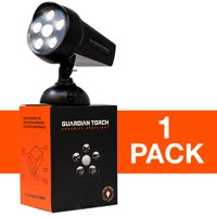 Guardian Torch - Home Security Spotlight (1 Pack) Solar Powered - 120 Motion Sensor - IP65 Water Resistant Outdoor Floodlight - 5 Bright LED Lights - Dusk to Dawn