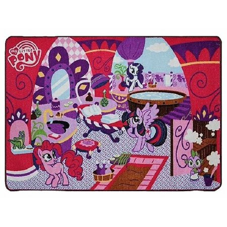 My Little Pony Pin The Tail Game (My Little Pony Salon Play Mat Game Rug Set - 31 inches x 44)