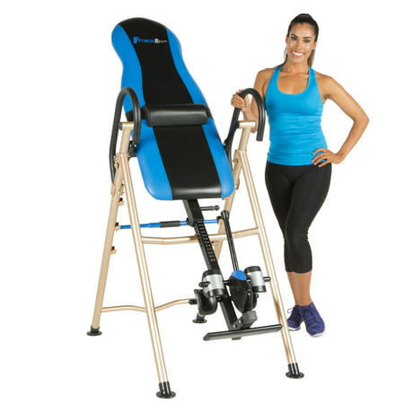 Fitness Reality 990XL Inversion Table with Lumbar Pillow and Unique SURELOCK Safety