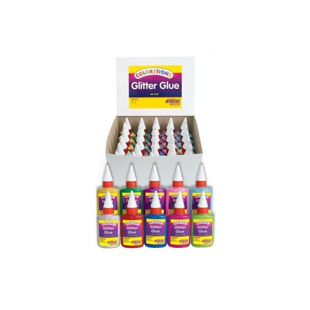Colorations Glitter Glue Classroom Pack - Set of 30 (Item # GGCLASS) - Classroom Items