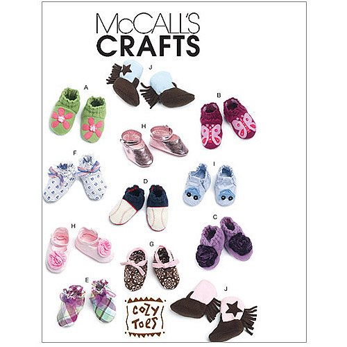 McCall's Pattern Infants' Booties, All Sizes in 1 Envelope