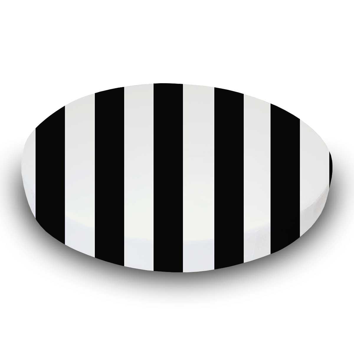 SheetWorld Fitted Oval Crib Sheet (Stokke Sleepi) - Black Stripe