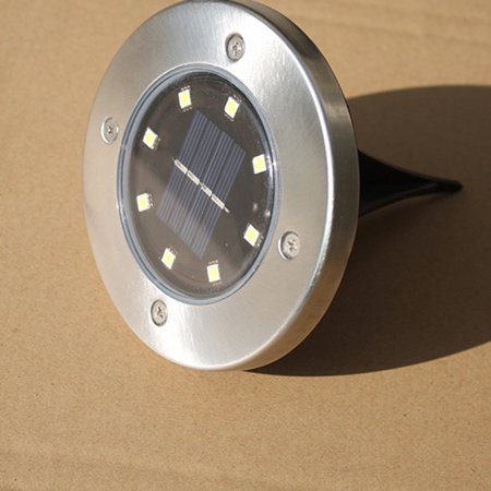 Brand New Stainless steel outdoor courtyard ground rainproof solar underground light - image 4 de 6