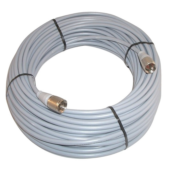 WORKMAN 8X-100-PL-PL 100` FOOT CB RADIO / HAM ANTENNA COAX CABLE MOLDED ENDS
