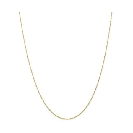 20 Inch 10k Carded Cable Rope Chain Necklace in 10 kt Yellow Gold