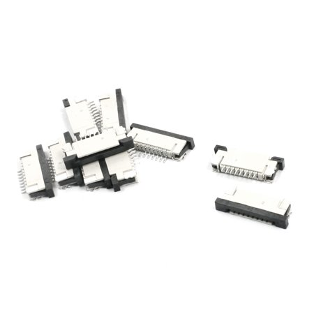 Unique Bargains 10Pcs 8-Pin 1mm FFC FPC Ribbon Connector