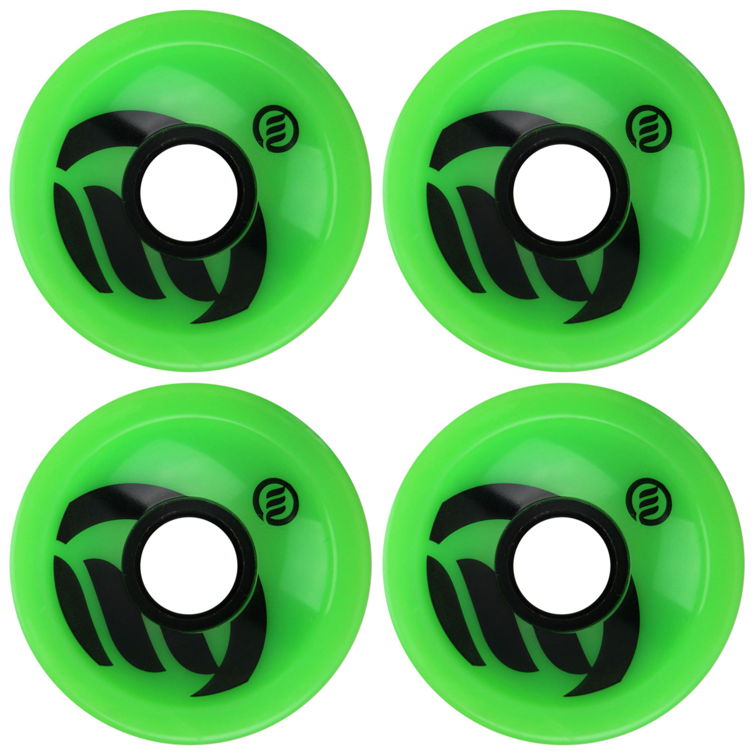 METHOD Longboard Wheels VELOCITY GREEN 70mm 80A