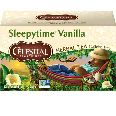 (6 Boxes) Celestial Seasonings Herbal Tea, Sleepytime Vanilla, 20 Count
