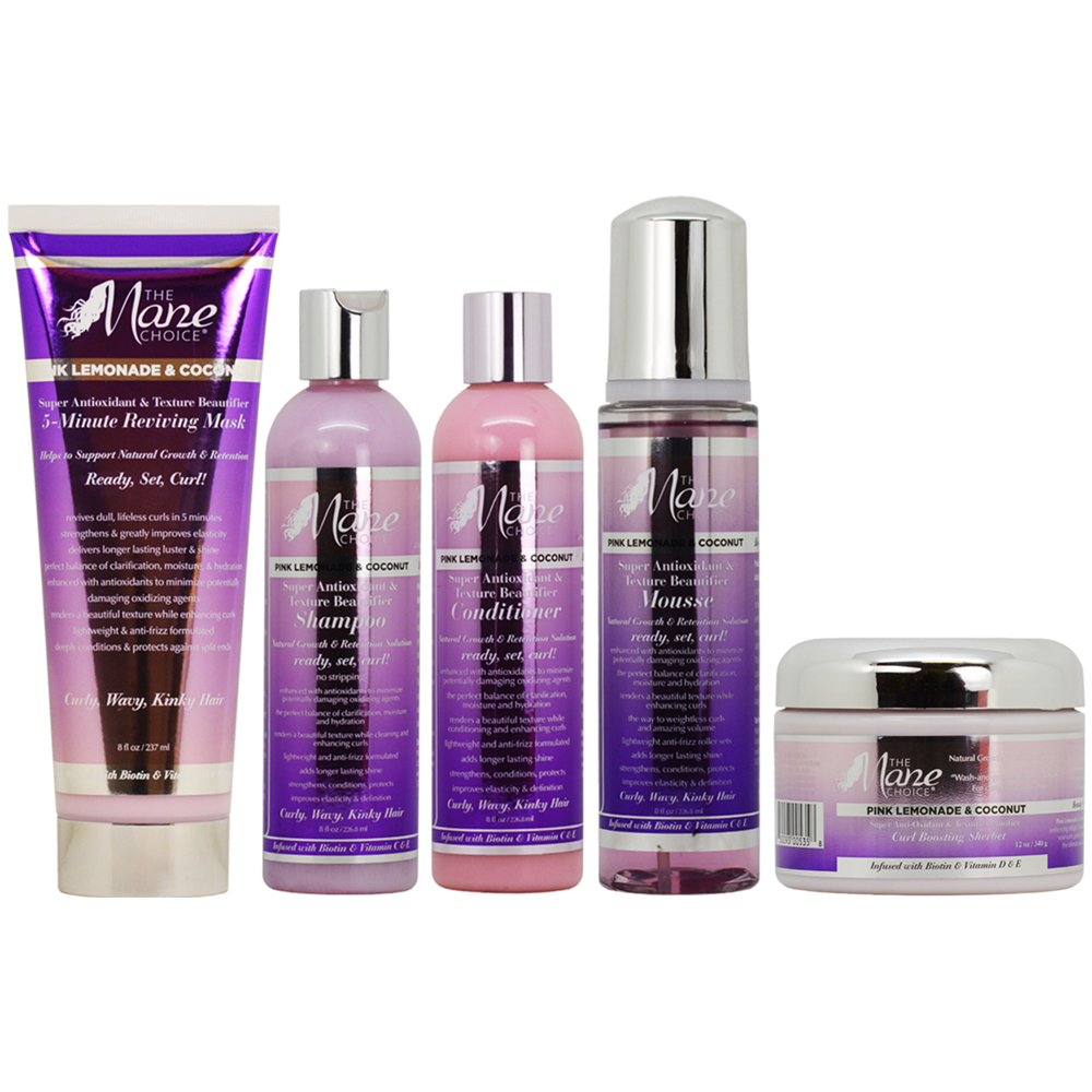 The Mane Choice Pink Lemonade & Coconut Hair Care 5-piece Collection