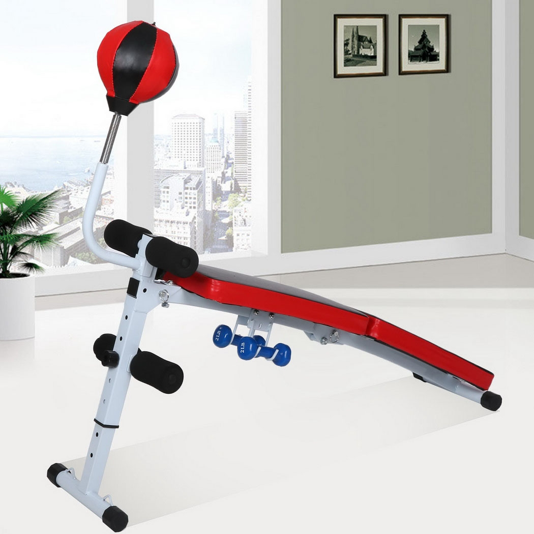 Fully Adjustable Folding Gym Weight Bench Fitness Dumbbel...