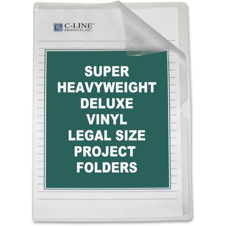 C-Line Deluxe Project Folders, Jacket, Legal, Vinyl, Clear, (Clear Case Legal)