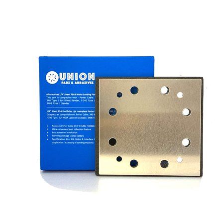 1/4 Sheet PSA 8 Holes Sanding Pad Replaces Porter Cable OE # 135292/893667, Superior Pads & Abrasives SPD16 Standard Replacement Pad for 340 Finishing