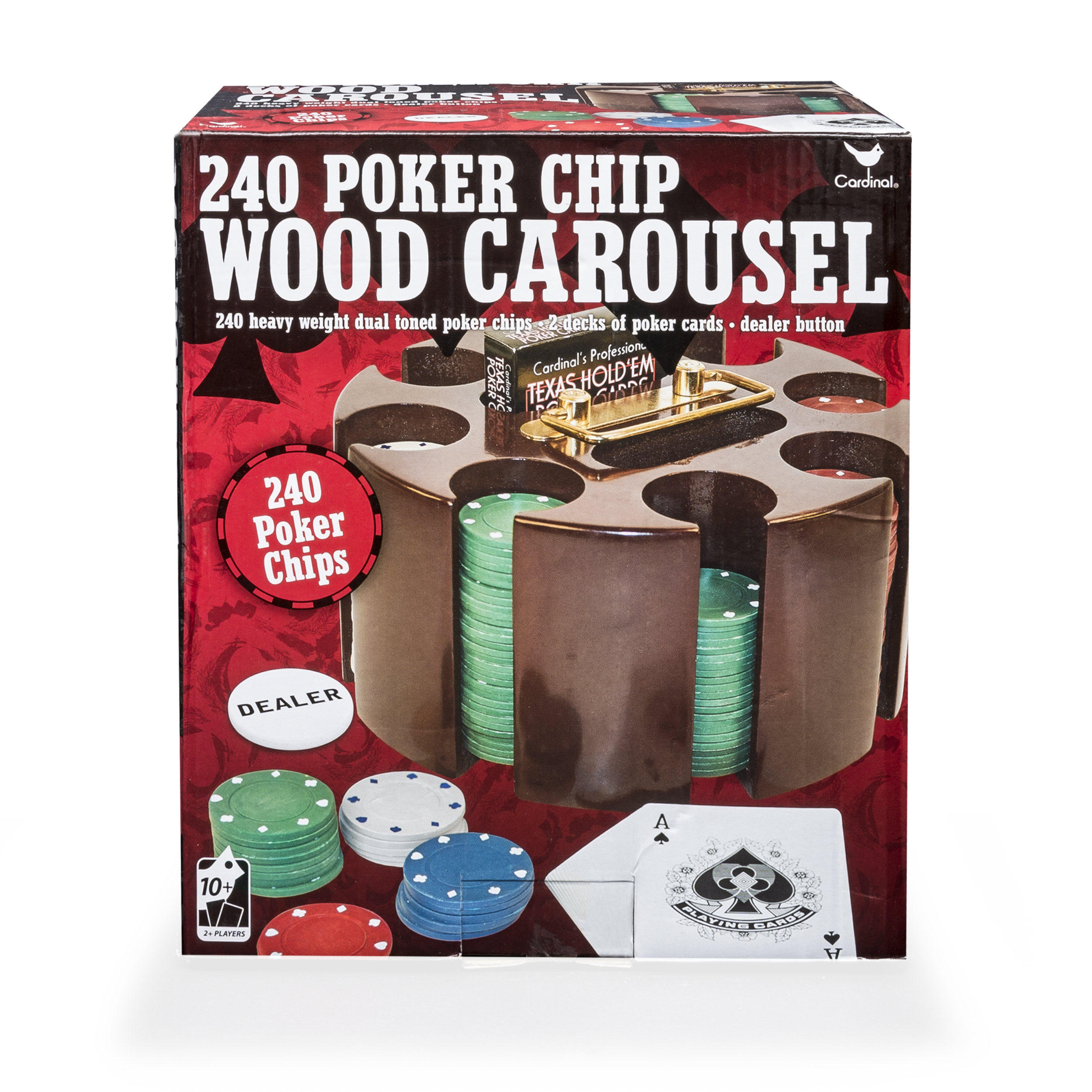 240 Poker Chip Wood Carousel by Spin Master Ltd