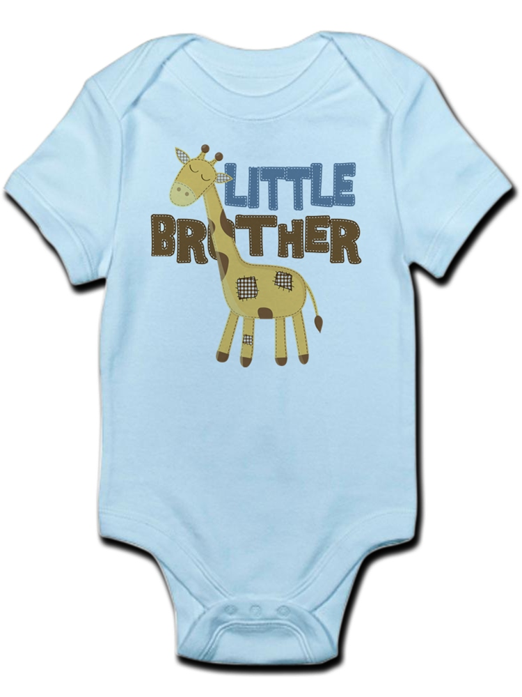 1fd8702767 CafePress - Little Bro Giraffe Body Suit - Baby Light Bodysuit - Walmart.com