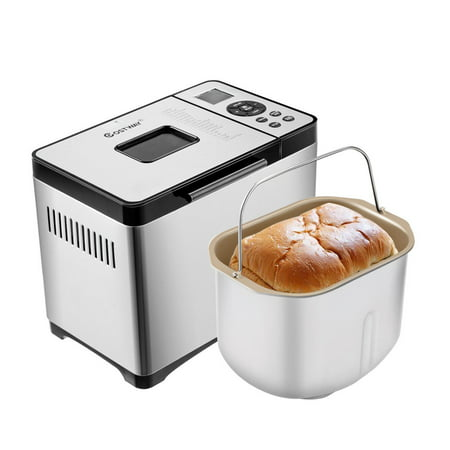 Costway Automatic Stainless Steel Bread Maker 2Lb Programmable Bread Machine Silver New ()