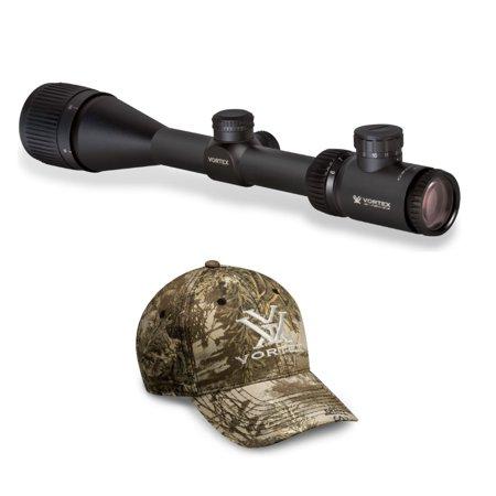 Vortex Crossfire II 6-18x44 AO Riflescope (V-Brite MOA Reticle) and Camo Hat