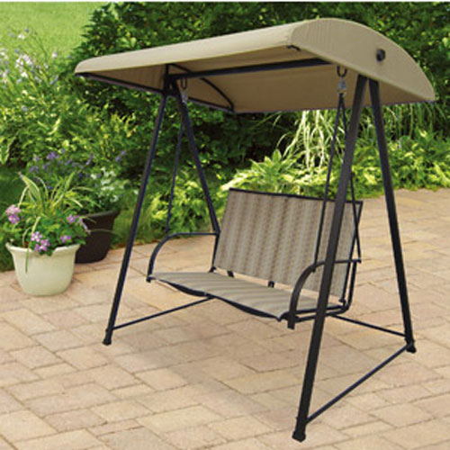 Garden Winds Replacement Canopy for 2 Person Swing - BEIGE COLOR - Walmart.com : mainstays replacement canopy - memphite.com