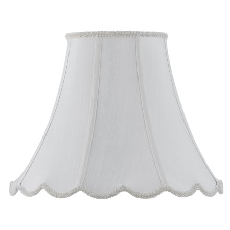 Champagne Glass Bell Shade - Cal Lighting Vertical Piped Scallop Bell Lamp Shade