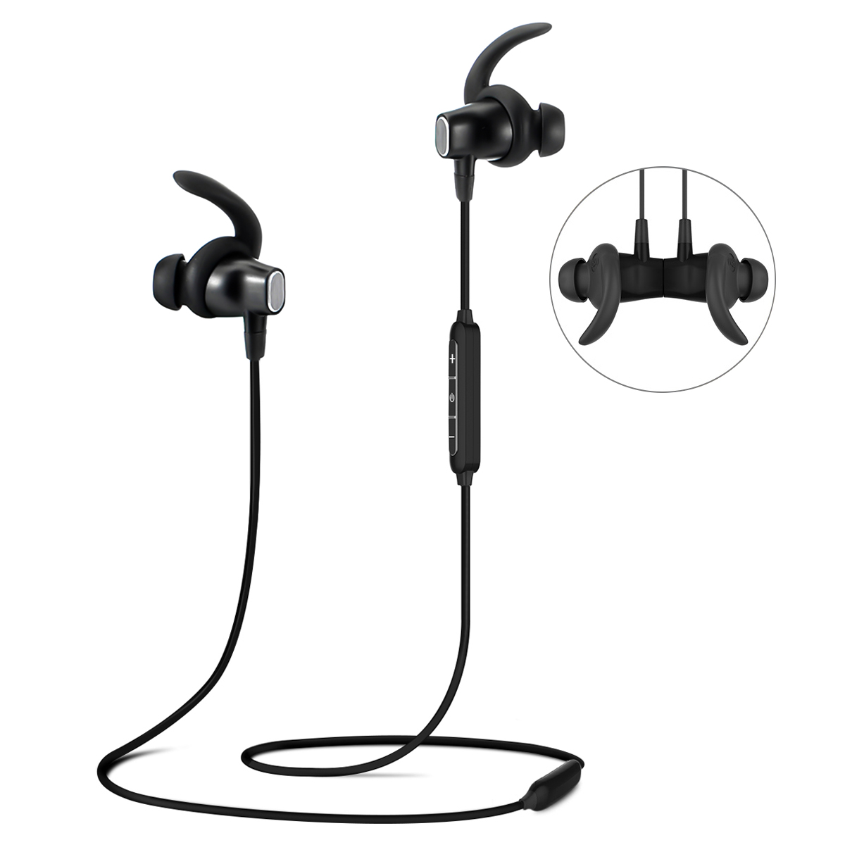 Wireless Headphones Earbuds For Sports Gym Running ,IPX6 Waterproof and Sweatproof Magnetic Secure-Fit Headset Noise Cancelling Earphones with Mic
