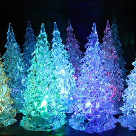 Fordawn 4pcs LED Light Up Christmas Tree Mini Xmas Night Light Christmas Ornaments Decoration - image 7 of 8