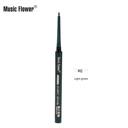 Music Flower Quick-dry Colorful Eyeliner Liquid Pen Natural Waterproof Longlasting Antidyeing 8 Colors Optional Eye Makeup - Colorful Eye