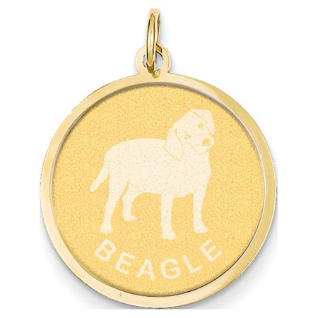 14k Yellow Gold Beagle Disc (20x26mm) Pendant / Charm - image 1 of 1