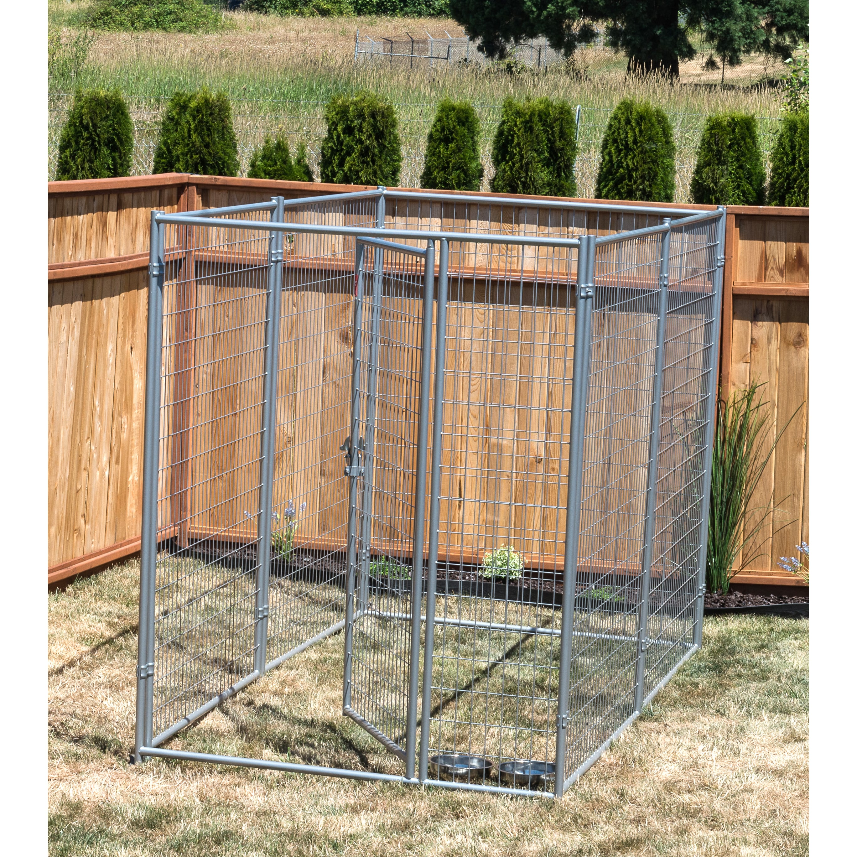 Lucky Dog  Silvertone Modular Welded Wire Kennel Kit