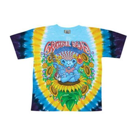 Grateful Dead Mens  Guru Bear Tie Dye T Shirt Multi