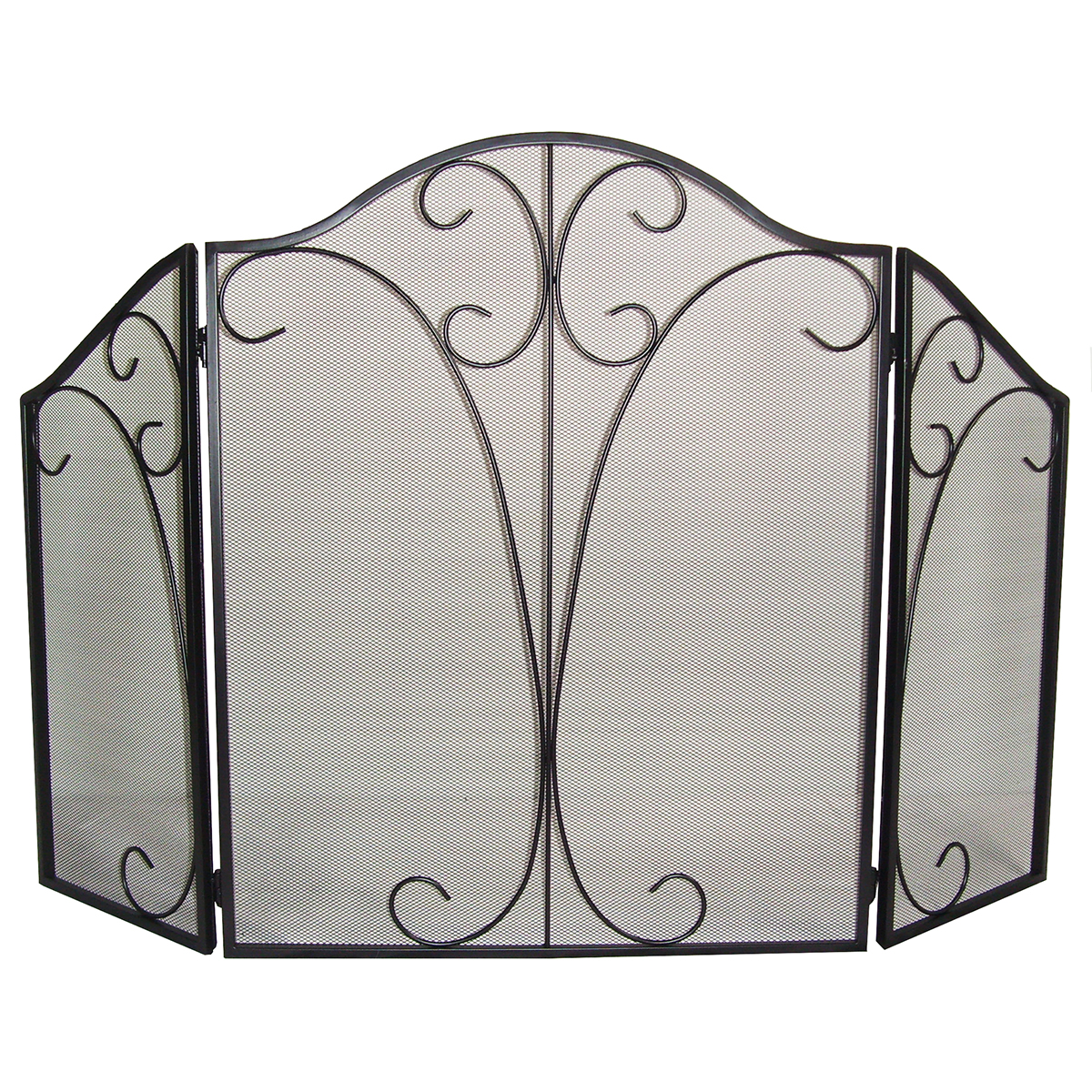 "Buy Clevr 51"" 3-Panel Arch Fireplace Safety Fence Screen Metal Vintage Gate Divider Guard at Walmart.com"
