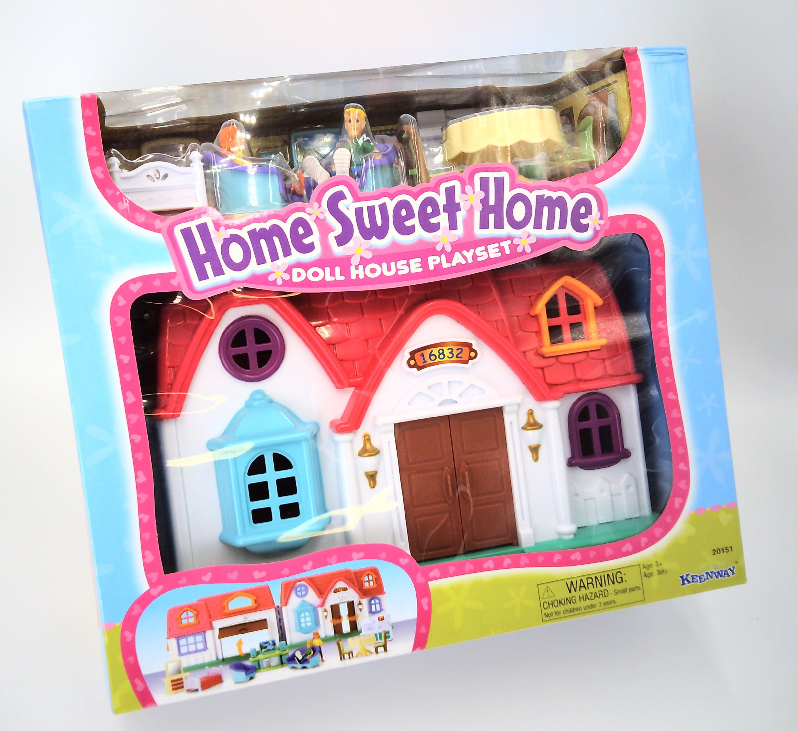 cfec528dce4 Home Sweet Home Doll House Play Set - Walmart.com