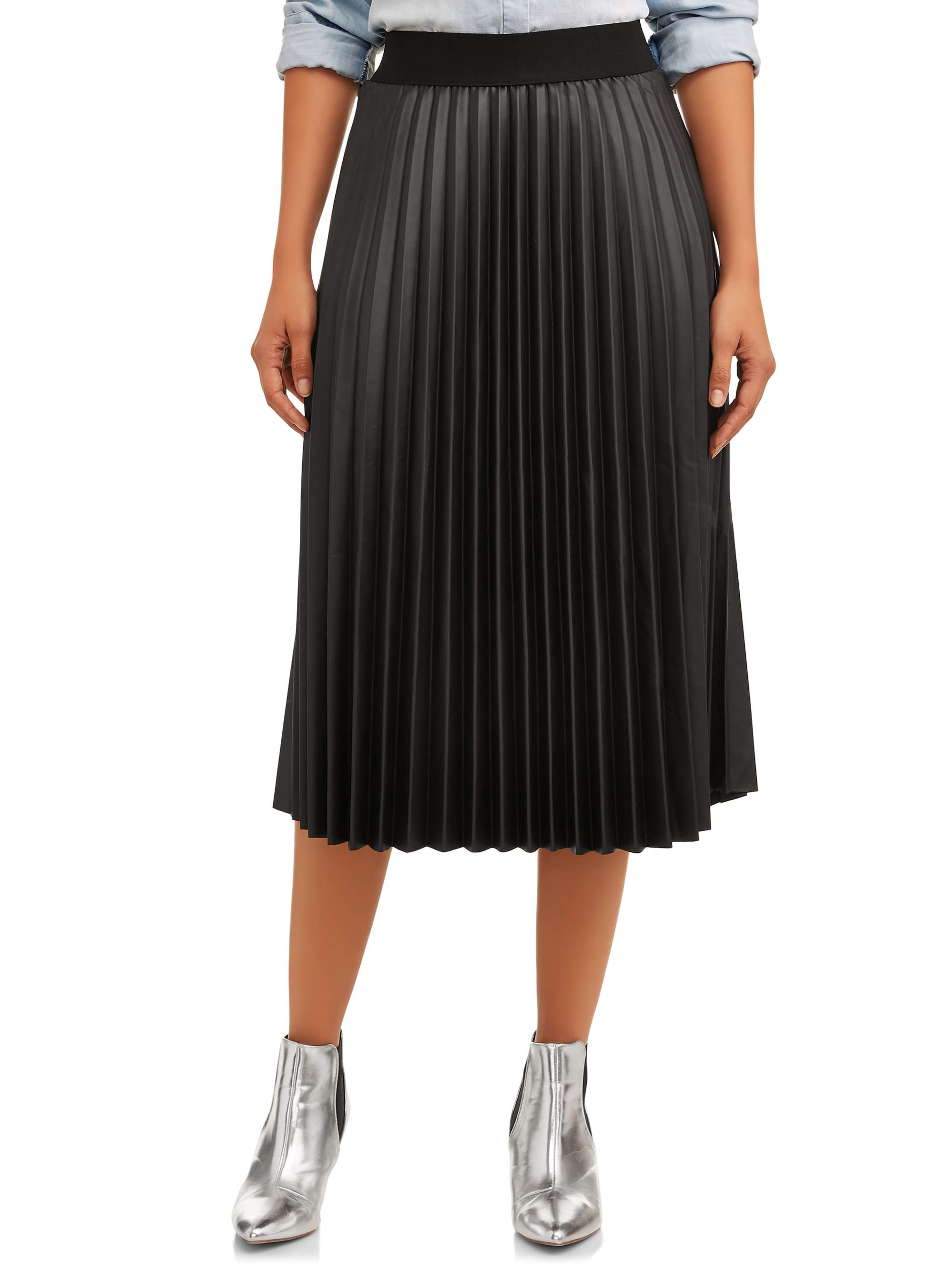Time and Tru Time and Tru Women's Pleated Skirt