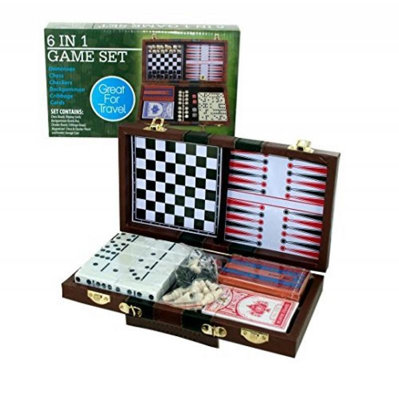 Kole Audio Travel (6 in 1) Mini Game Set - Dominoes Chess...