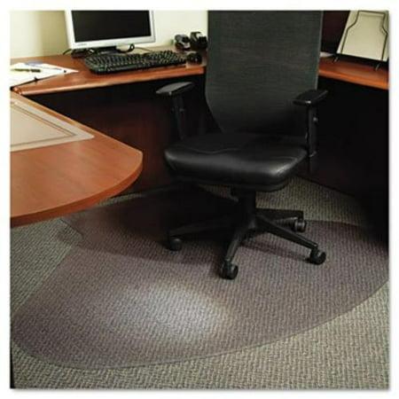 Es Robbins Everlife Chair Mat – Hard Floor, Wood Floor, Tile Floor – 60″ Length X 66″ Width – 10″ Length X 20″ Width Lip – Vinyl – Clear (esr-122775)