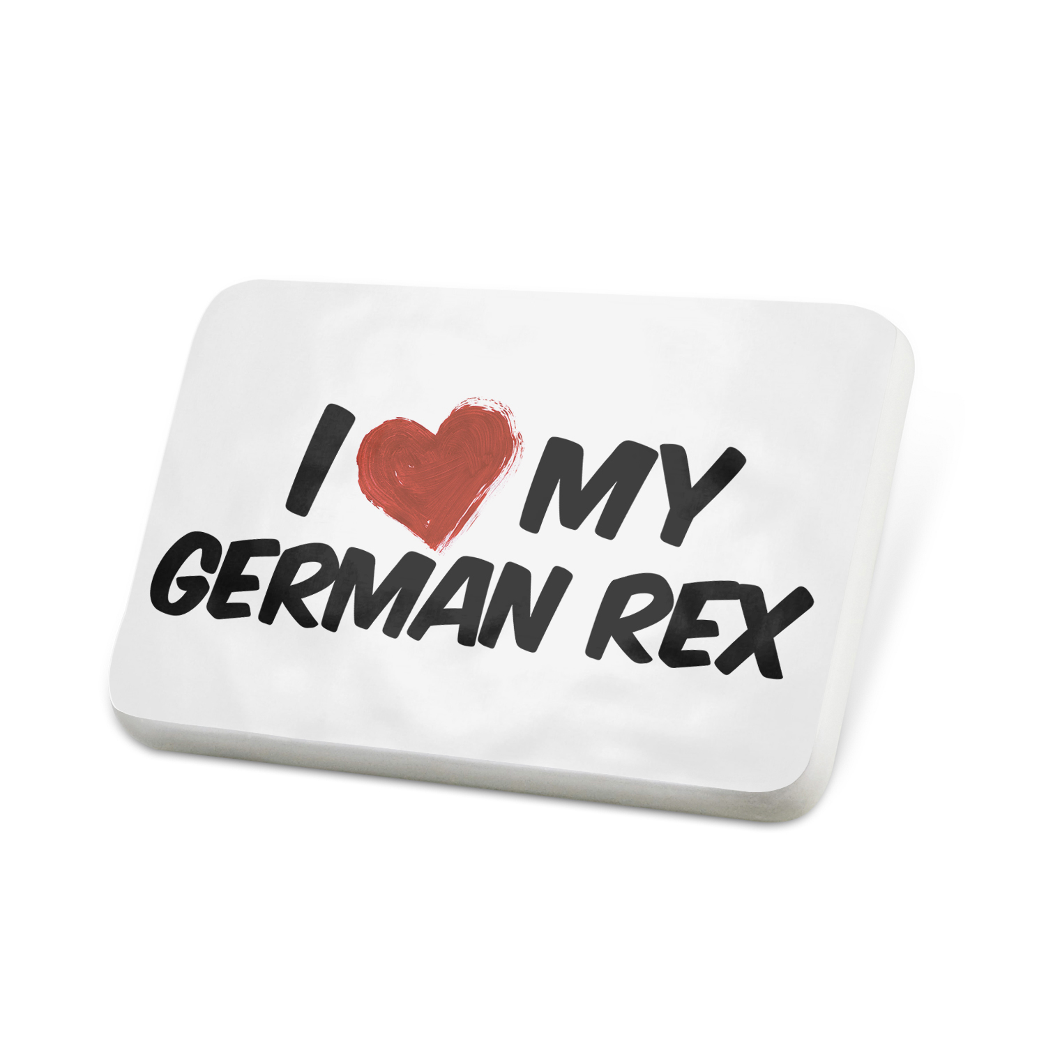 Porcelein Pin I Love my German Rex Cat from East Germany Lapel Badge – NEONBLOND