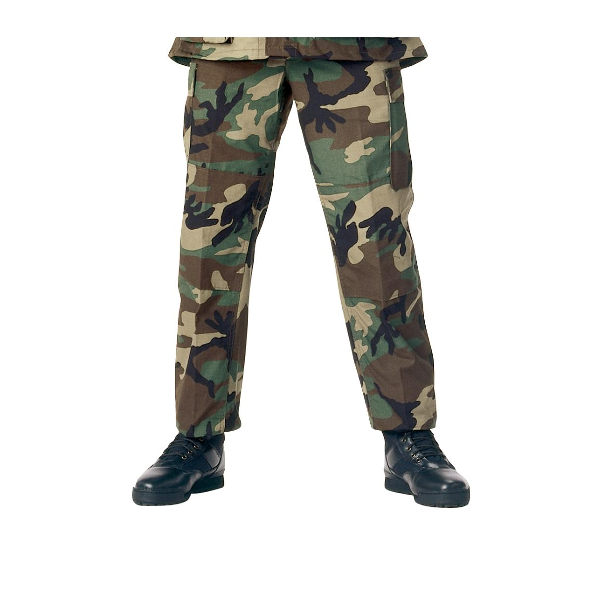 Woodland Camo BDU Pants, Military Fatigues by Rothco