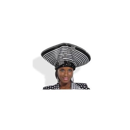 Donna Vinci Couture Hats H1486 High Quality Striped Ladies High Fashion Church  Hat In Black And White - Walmart.com b10e719d7af
