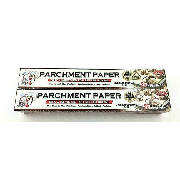 Parchment Paper Safe In Toaster Oven: Parchment Paper New Improve For Better Baking 25 SQ.FT