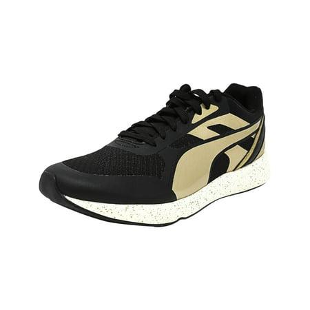 Puma Men's 698 Ignite Metallic Black / Gold White Ankle-High Fashion Sneaker -
