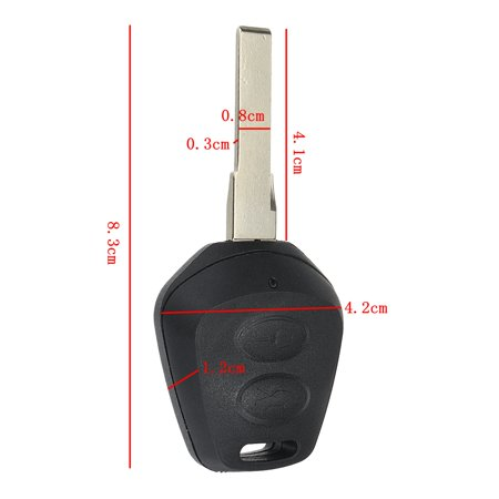 2 Button Remote Key Fob Case Shell Replacement For Porsche Boxster S 986 911  - image 5 of 6