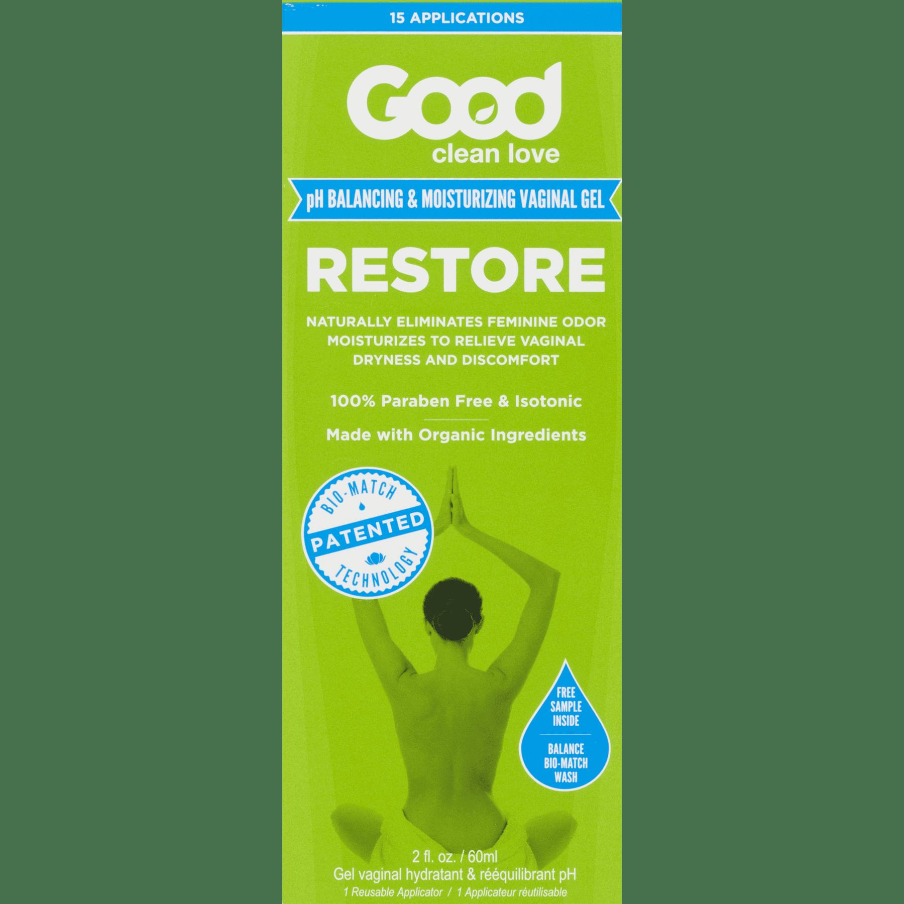 Good Clean Love Restore pH Balancing Moisturizing Vaginal Lubricant Gel - 2 oz