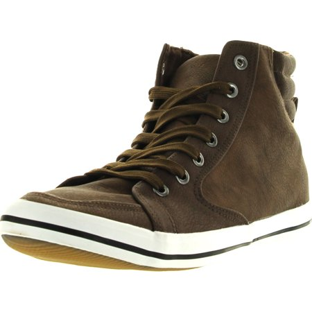 Arider Mens AR5011 Fashion Classic High Top Lace Up Sneaker Comfort Casual Shoe, Brown,