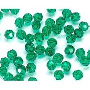 Faceted Plastic Beads - Transparent Christmas Green - 8Mm - 480 Pieces